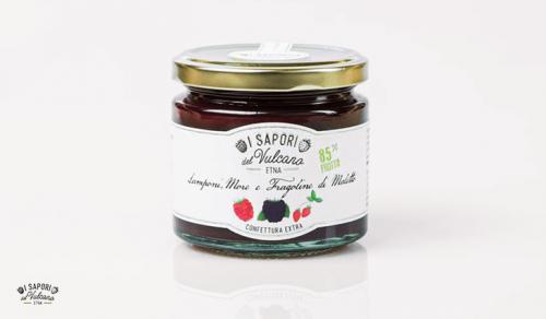 Confettura di Lamponi, More e Fragoline di Maletto